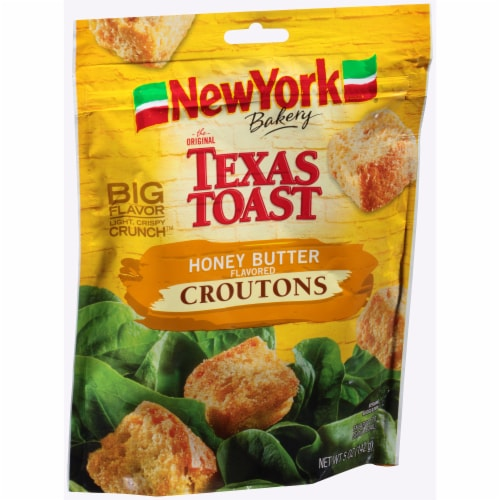 New York Bakery Texas Toast Honey Butter Croutons Perspective: left