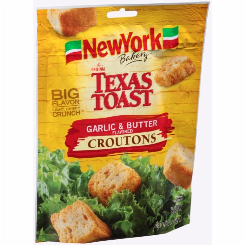 New York Bakery Texas Toast Garlic & Butter Croutons Perspective: left