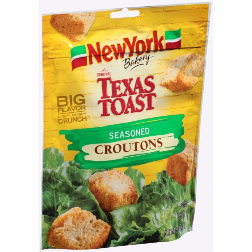 New York Bakery Texas Toast Seasoned Croutons Perspective: left