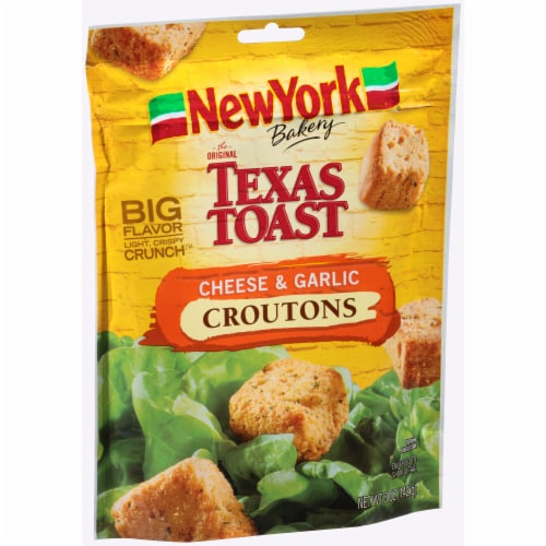 New York Bakery Texas Toast Cheese & Garlic Croutons Perspective: left