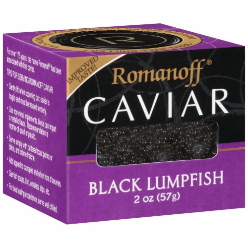 Romanoff Black Lumpfish Caviar Perspective: left