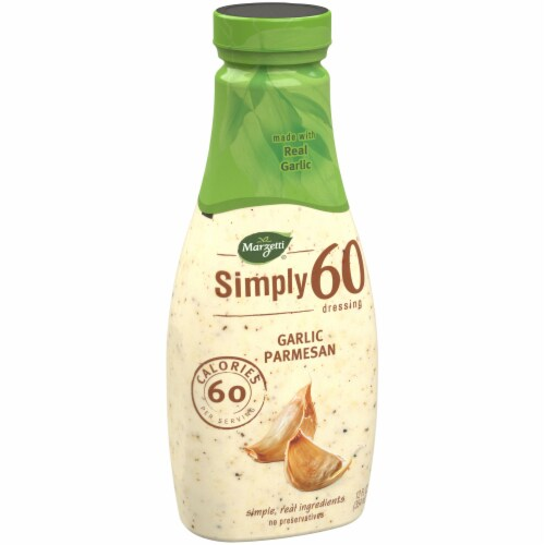 Marzetti Simply 60 Garlic Parmesan Dressing Perspective: left