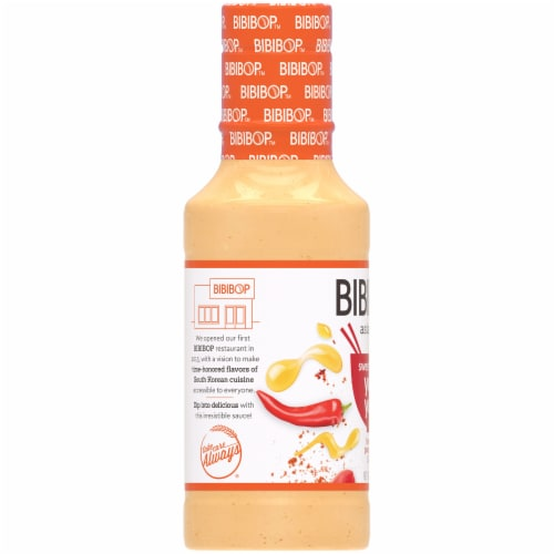 Bibibop Sweet and Spicy Yum Yum Sauce Perspective: left