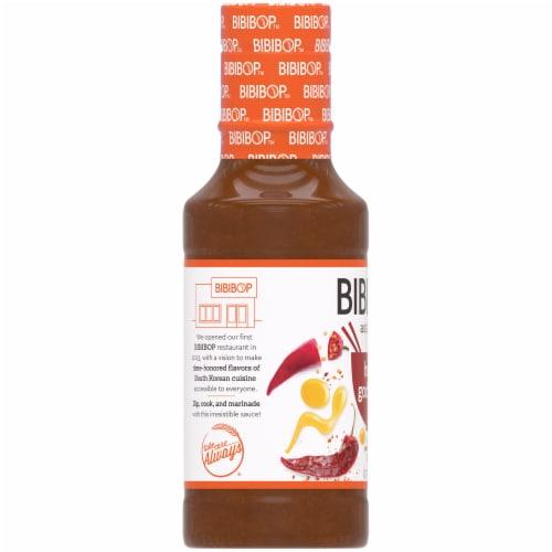 Bibibop Asian Grill Honey Gochujang Sauce Perspective: left