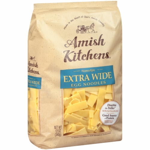 Amish Kitchens Homestyle Extra Wide Egg Noodles Perspective: left