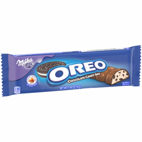 Oreo Milka Chocolate Candy Bar Perspective: left