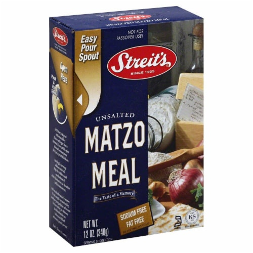 Streit's Unsalted Matzo Meal Perspective: left