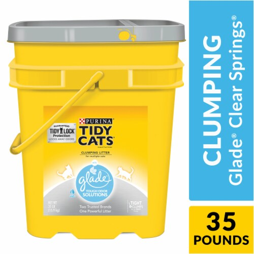 Tidy Cats Glade Clear Springs Clumping Multi Cat Litter Perspective: left