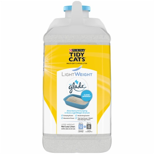 Tidy Cats LightWeight Glade Clear Springs Clumping Multi-Cat Litter Perspective: left