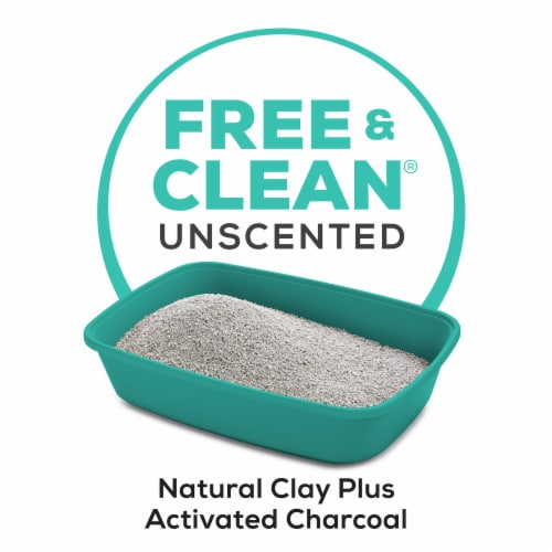 Tidy Cats Free & Clean Unscented Clumping Multiple Cat Litter Perspective: left