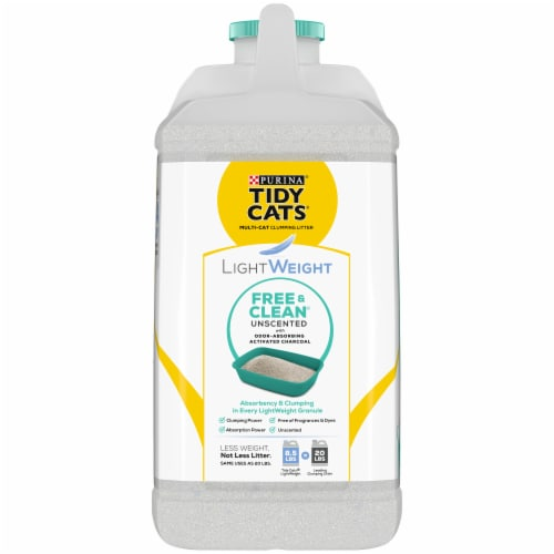 Tidy Cats LightWeight Free & Clean Unscented Clumping Litter for Multiple Cats Perspective: left