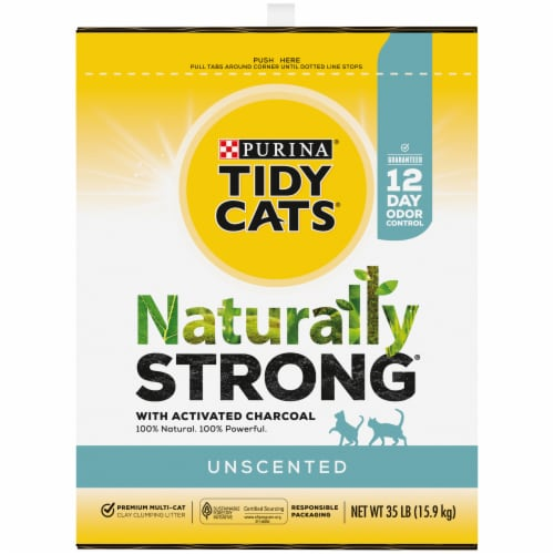 Purina Tidy Cats Natually Strong Unscented Litter Perspective: left