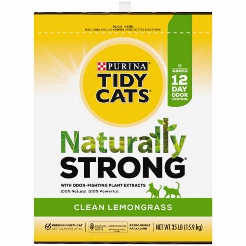 Tidy Cats Natually Strong Clean Lemongrass Litter Perspective: left