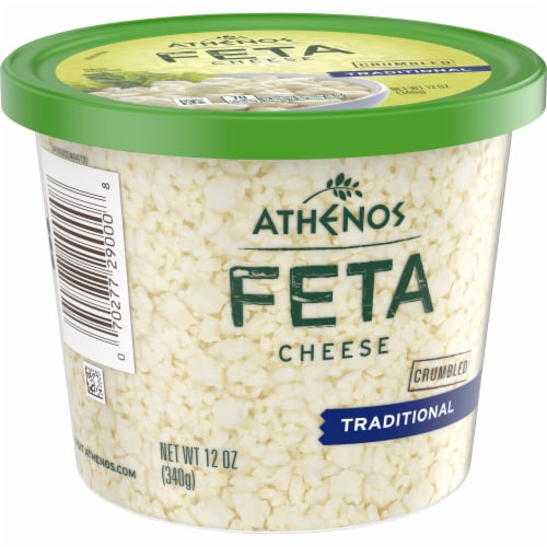 Athenos Crumbled Traditional Feta Cheese Perspective: left
