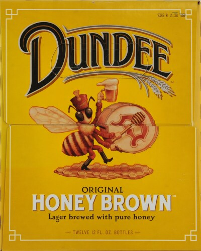 Dundee's Honey Brown Lager Perspective: left