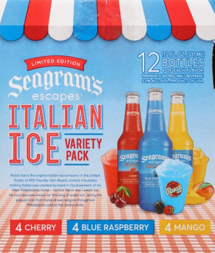 Seagram's Escapes Italian Ice Flavored Malt Beverage Variety Pack Perspective: left