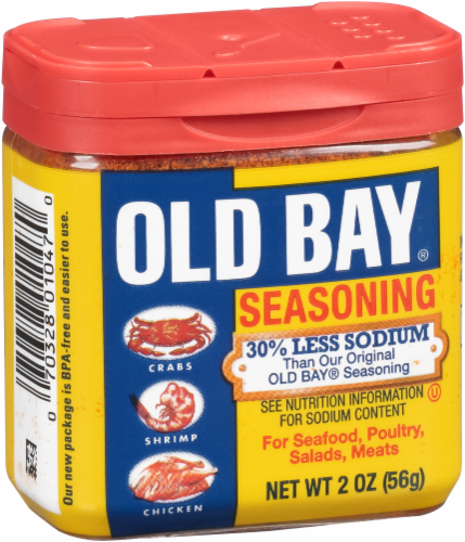 Old Bay Reduced Sodium Seasoning Perspective: left