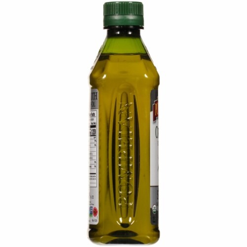 Pompeian Organic Smooth Extra Virgin Olive Oil Perspective: left