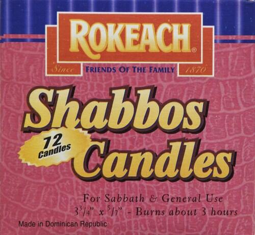 Rokeach Sabbath Candles Perspective: left