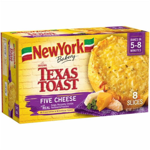 New York Bakery Five Cheese Texas Toast 8 Count Perspective: left