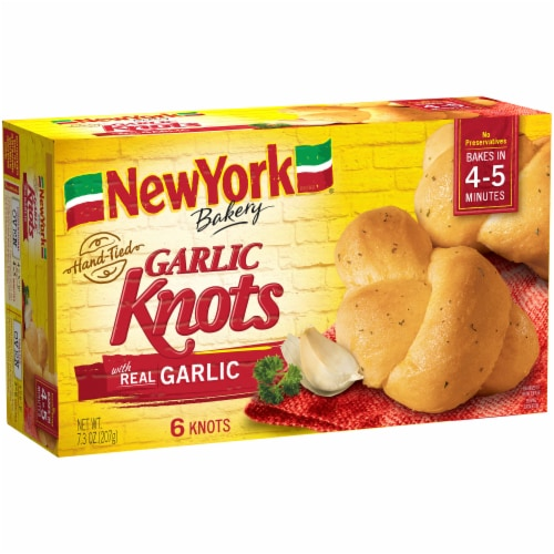 New York Bakery Garlic Knots 6 Count Perspective: left