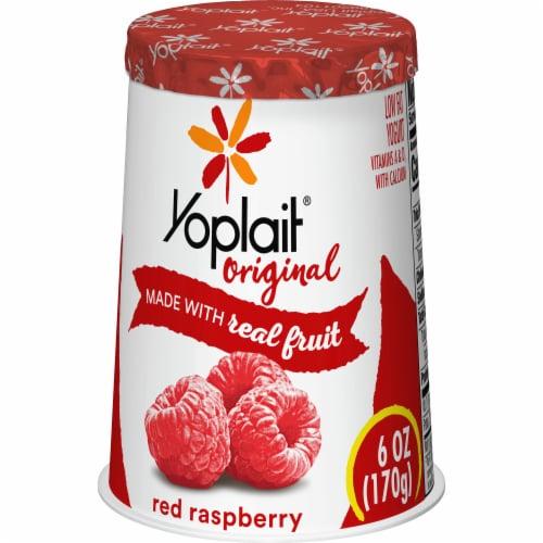 Yoplait Original Red Raspberry Low Fat Yogurt Perspective: left