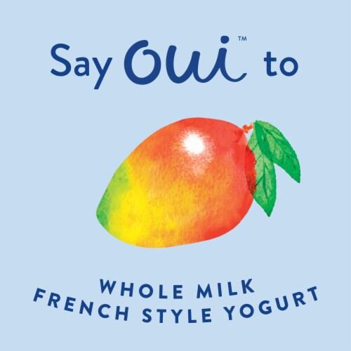 Oui by Yoplait Mango French Style Yogurt Perspective: left