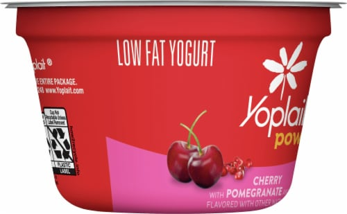 Yoplait Power Cherry with Pomegranate and Chia Low Fat Yogurt Perspective: left