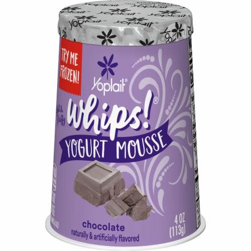 Yoplait Whips Chocolate Yogurt Mousse Perspective: left