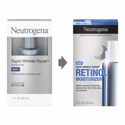 Neutrogena Rapid Wrinkle Repair Night Cream Perspective: left