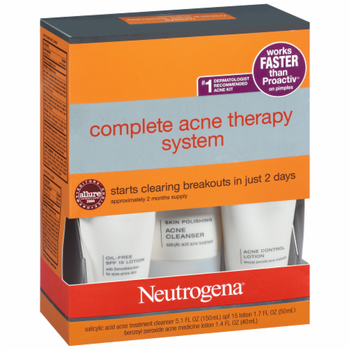 Neutrogena Complete Acne Therapy System Perspective: left