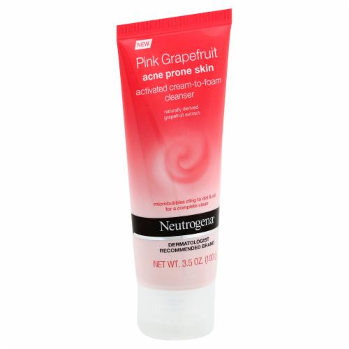 Neutrogena Acne Prone Skin Pink Grapefruit Cream-to-Foam Facial Cleanser Perspective: left