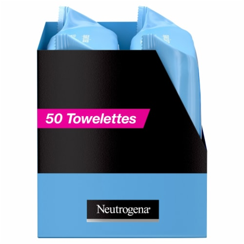 Neutrogena Makeup Remover Cleansing Towelettes Twin Pack Perspective: left