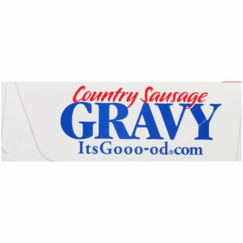 Purnell's Old Folks Country Sausage Gravy Pouches Family Pack Perspective: left