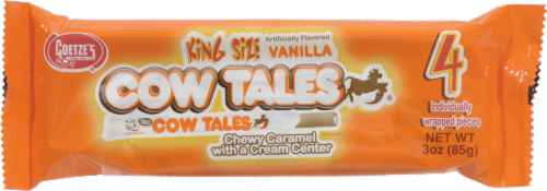 Goetze's Cow Tales Chewy Caramel with Cream King Size Perspective: left