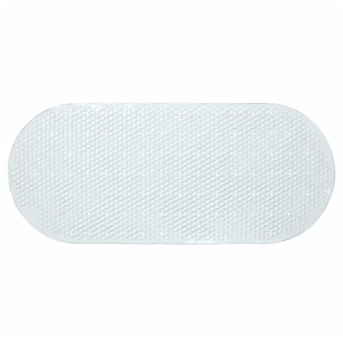 SlipX Solutions Bubble Bath Mat - Clear Perspective: left