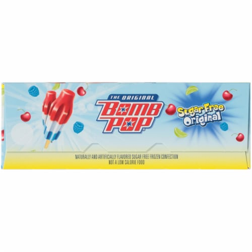 Bomb Pop The Original Sugar Free Ice Pops Perspective: left