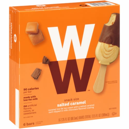 Weight Watchers Salted Caramel Ice Cream Bars Perspective: left
