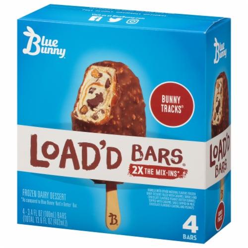 Blue Bunny Load'd Bunny Tracks Ice Cream Bar Perspective: left