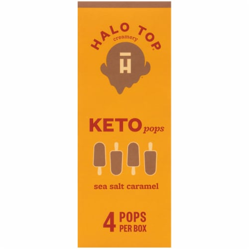 Halo Top Keto Sea Salt Caramel Ice Cream Pops Perspective: left