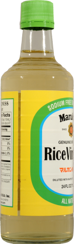 Marukan Genuine Brewed Rice Vinegar Perspective: left