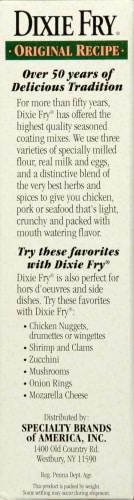 Dixie Fry Original Fry Mix Perspective: left