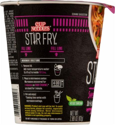 Nissin® Cup Noodles® Stir Fry Sweet Chili Flavor Asian Noodles Perspective: left