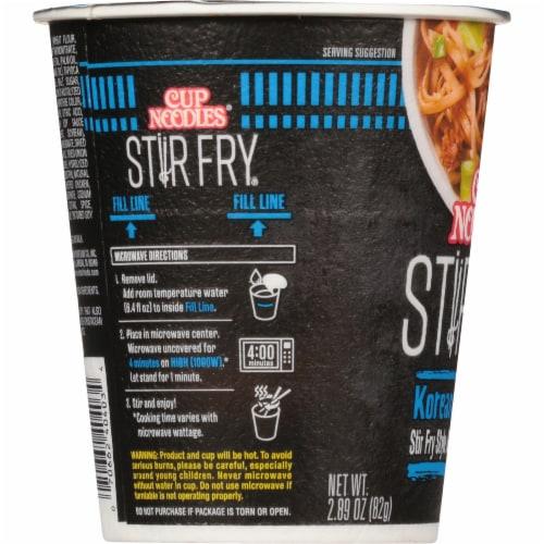Nissin® Cup Noodles® Stir Fry Korean BBQ Flavor Asian Noodles Perspective: left