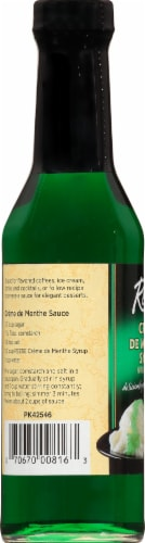 Reese Creme De Menthe Syrup Perspective: left