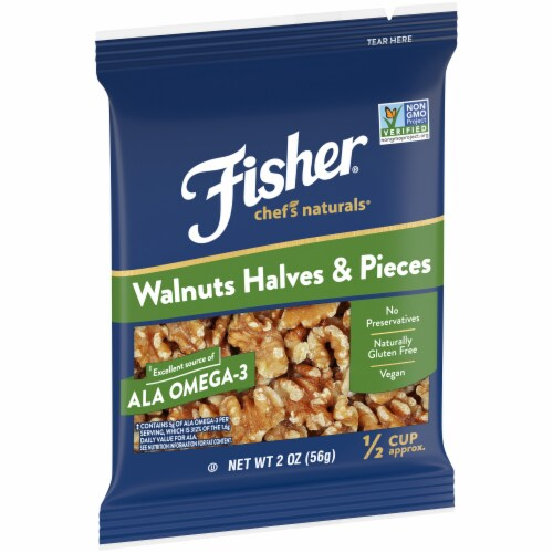 Fisher Chef's Naturals Walnuts Halves & Pieces Perspective: left