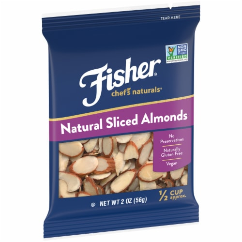 Fisher Chef's Naturals Sliced Almonds Perspective: left
