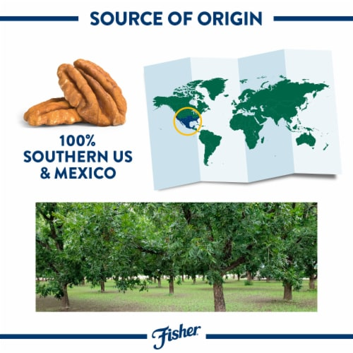 Fisher Chef's Naturals Pecan Halves Perspective: left