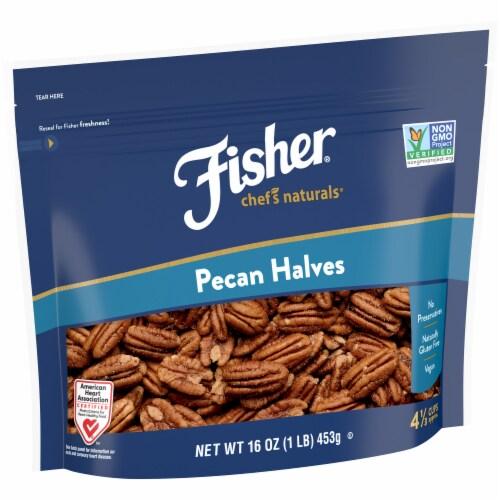 Fisher Chef's Naturals Pecan Halves Perspective: left