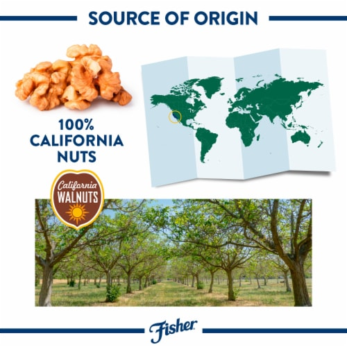 Fisher Chef's Naturals Chopped Walnuts Perspective: left